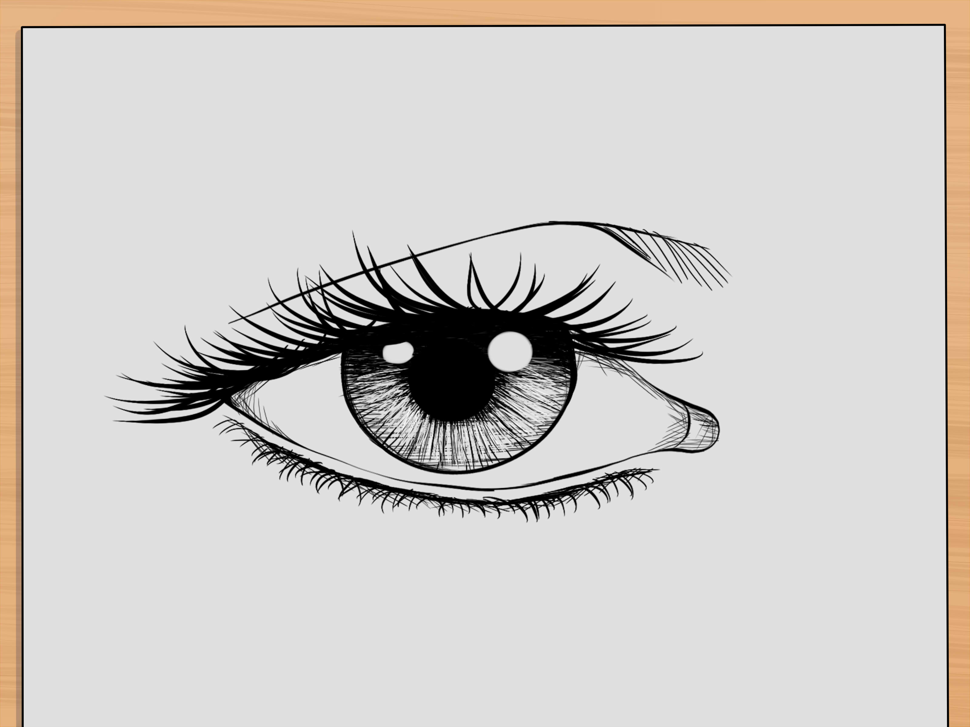 3200x2400 How To Draw Realistic Human Eyes 7 Steps (With Pictures)