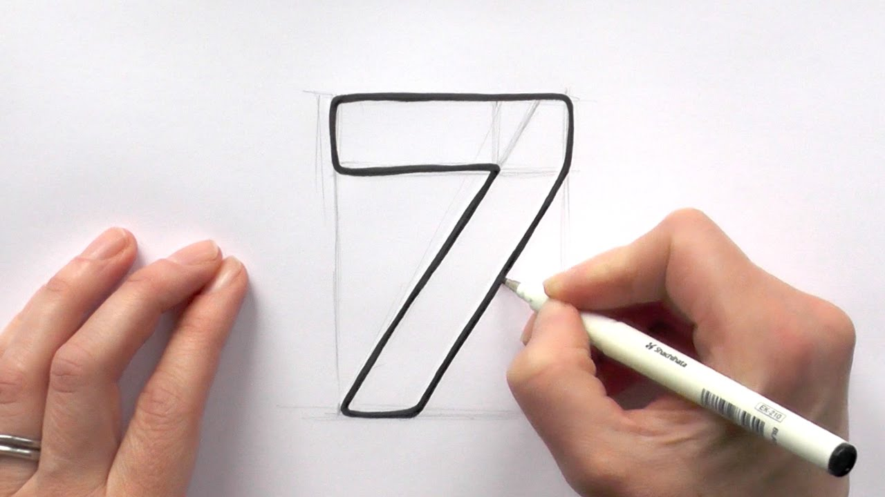 1280x720 How To Draw A Cartoon Number 7