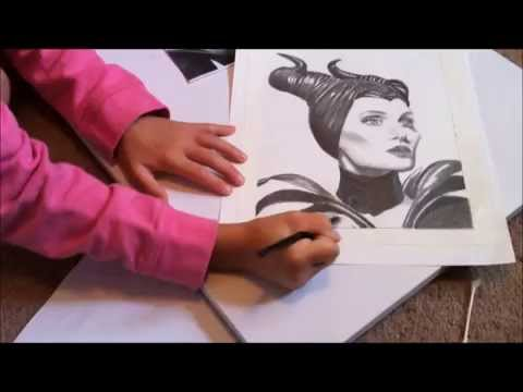 480x360 Amazing 7 Year Old Kira Marie Drawing Maleficent
