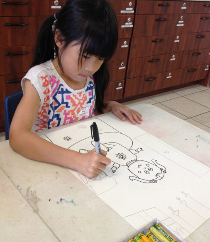 700x806 Drawing Class, 7 Year Old.