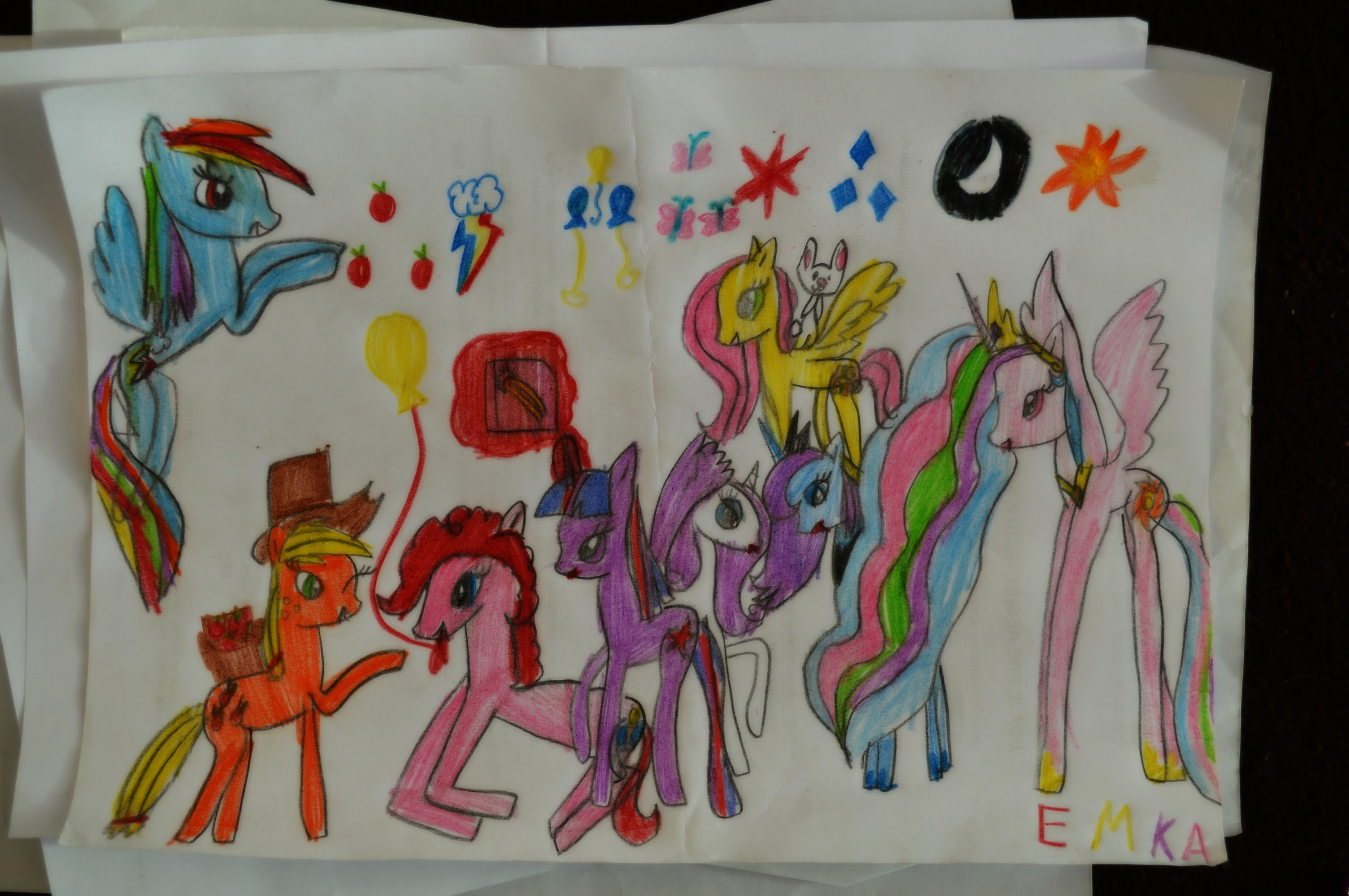 3000x1994 My Little Pony Speed Drawing (By 7 Years Old Girl)