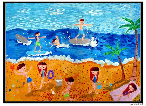 564x408 The Beach Girl Posters And Pastels