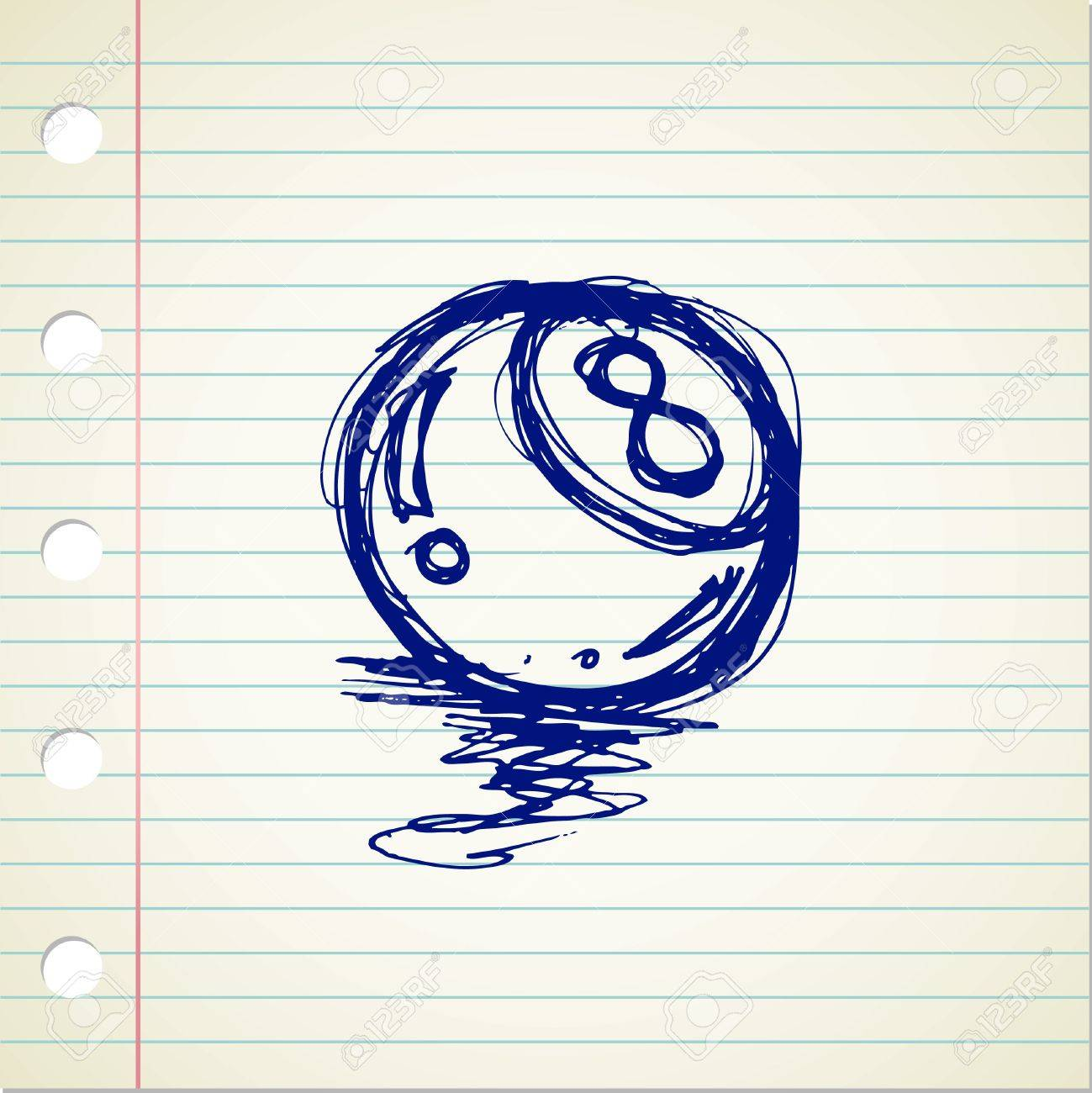 1299x1300 8 Ball Doodle Royalty Free Cliparts, Vectors, And Stock