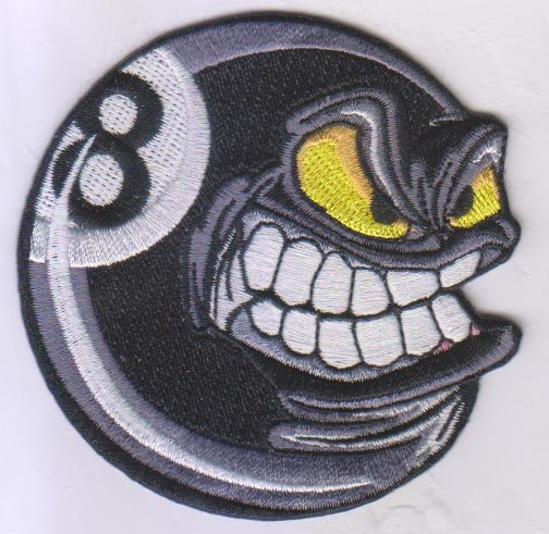 504x491 8 Ball Smiley Patch