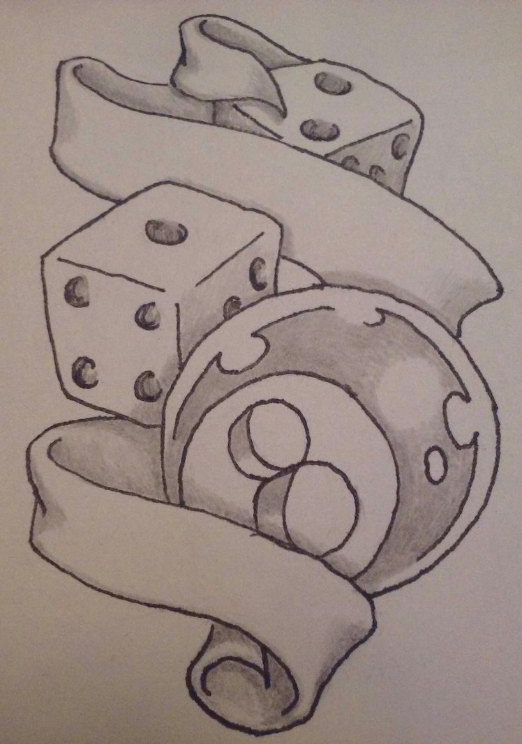 748x1067 Dice With 8 Ball And Scroll By Wearefearless