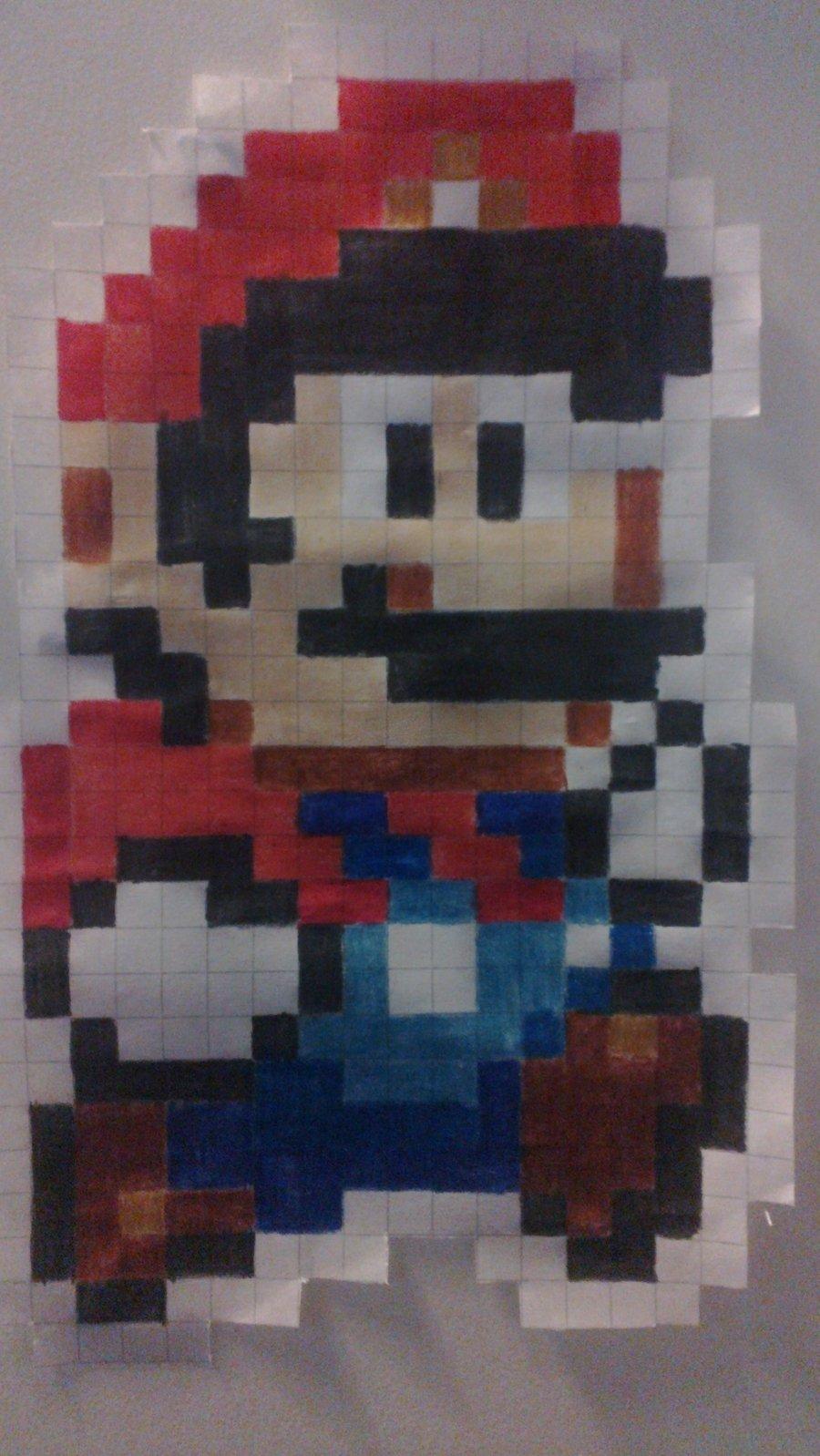 900x1598 16 Bit Mario Drawing By Dexdacozed