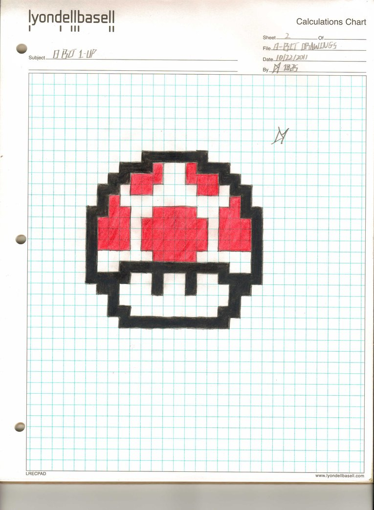 765x1044 8 Bit Mushroom By Da1825