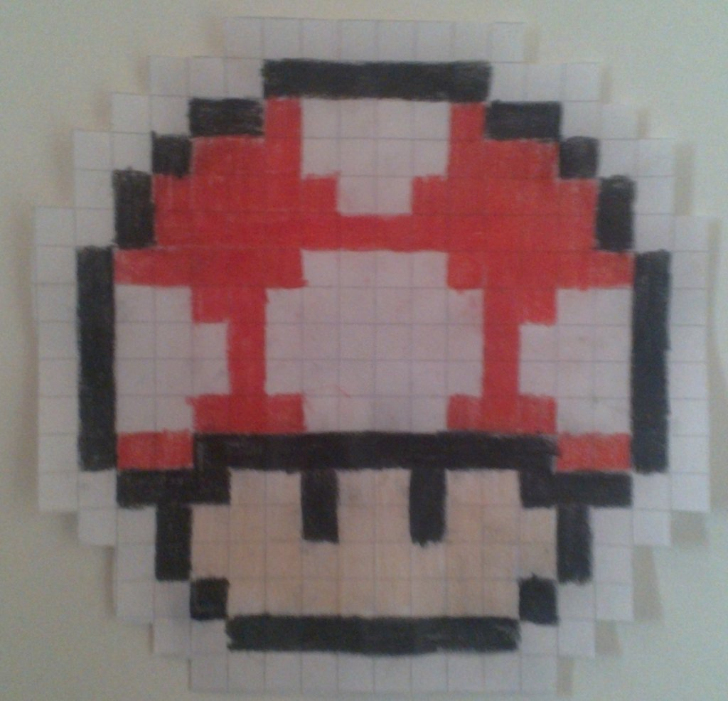 1024x986 8 Bit Mario Mushroom By Dexdacozed