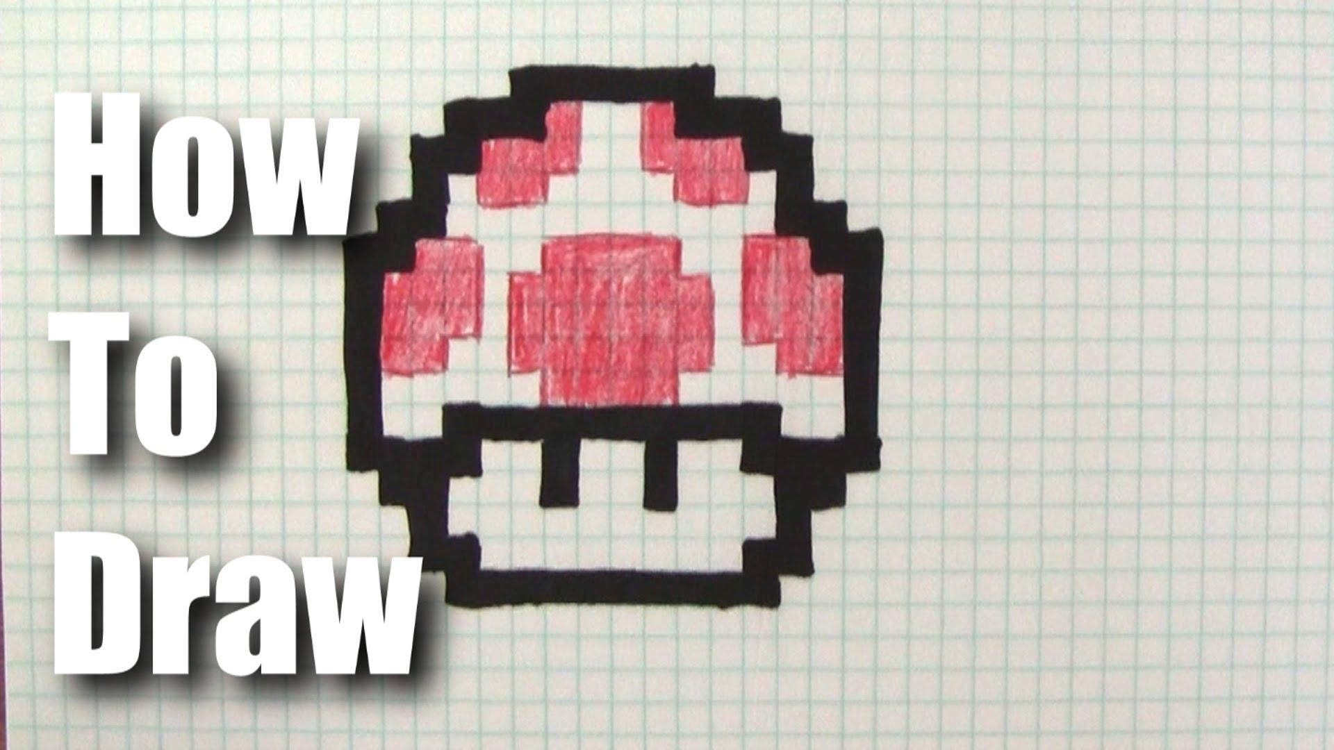 1920x1080 How To Draw A 8 Bit Mario Mushroom