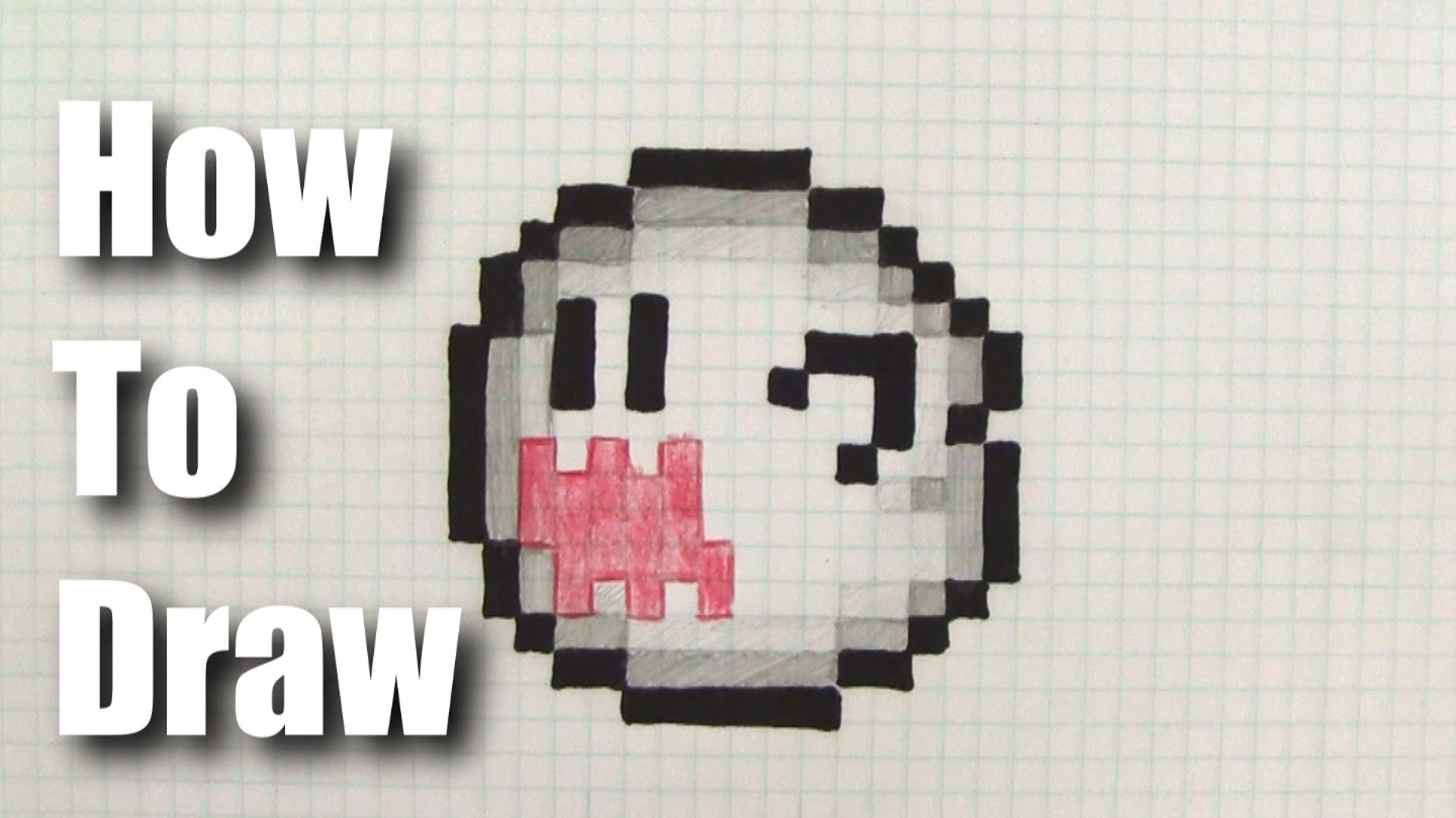 1920x1080 How To Draw 8 Bit Boo From Mario