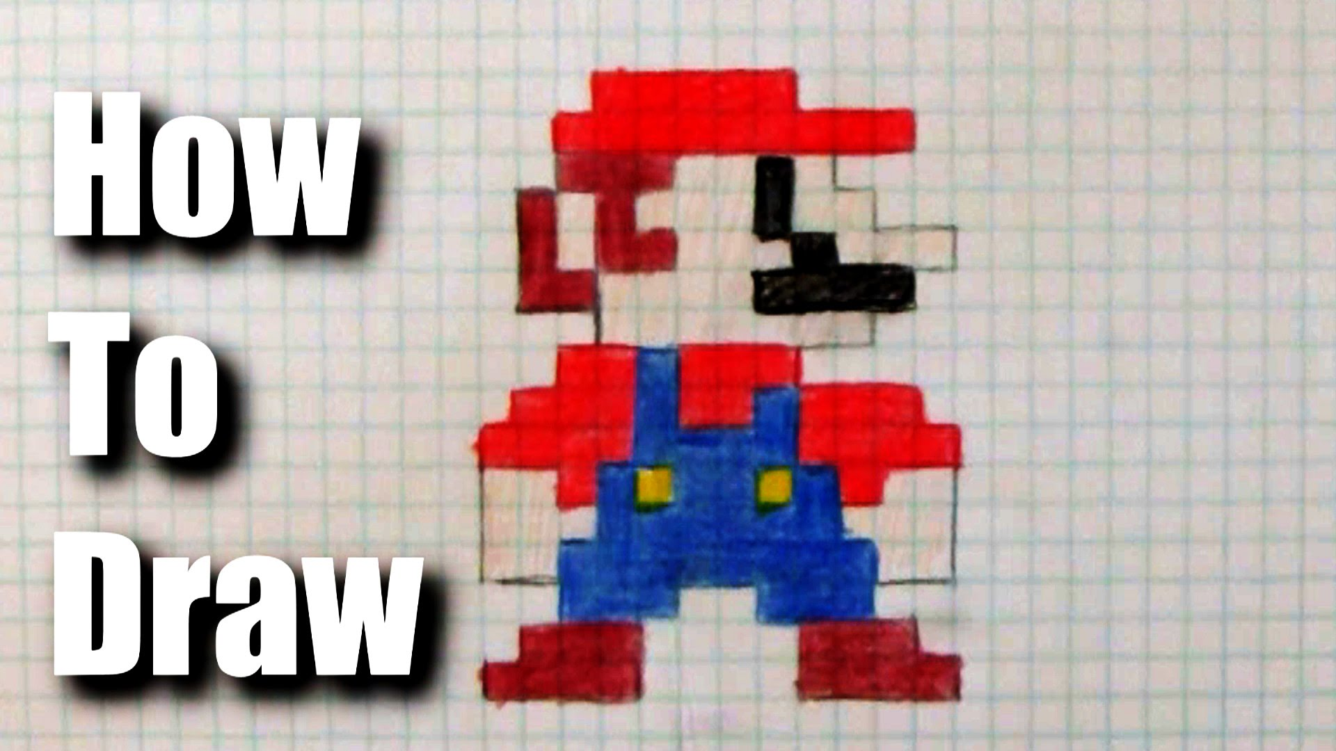 1920x1080 How To Draw 8 Bit Mario
