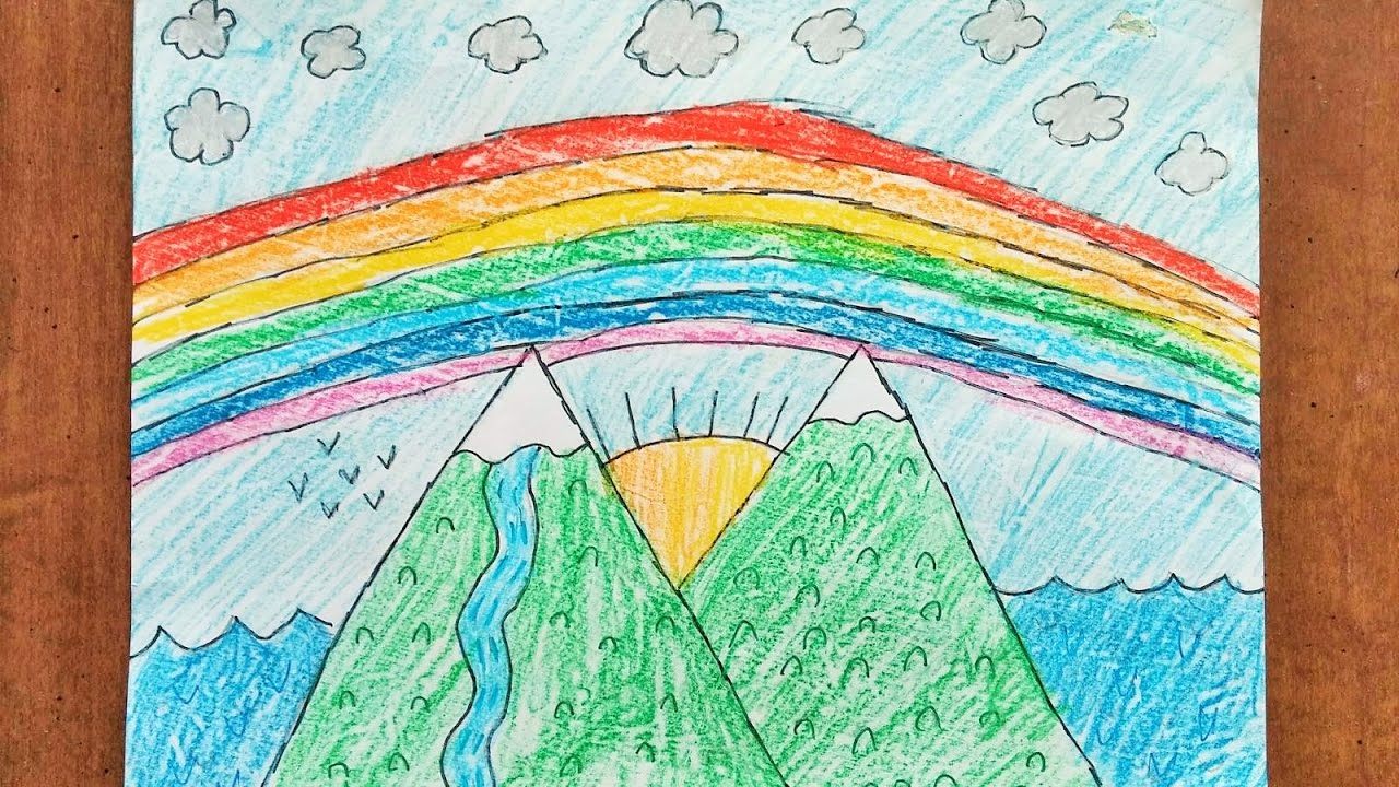 1280x720 8 Year Old Girl Teaches How To Draw Mountain Scenery For Kids