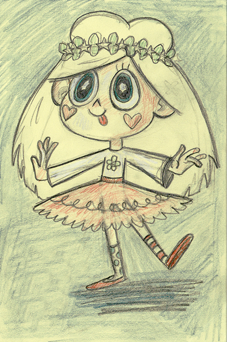450x677 Early Drawing Of An 8 Year Old Star Butterfly. Star Vs