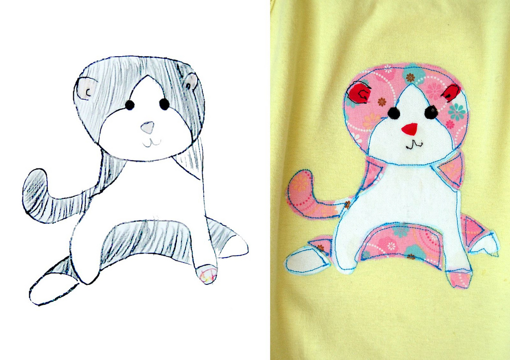 1024x724 How To Make Children's Drawings T Shirts Hideous