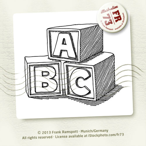 500x500 Education Abc Blocks Drawing Vector Illustration. 2013