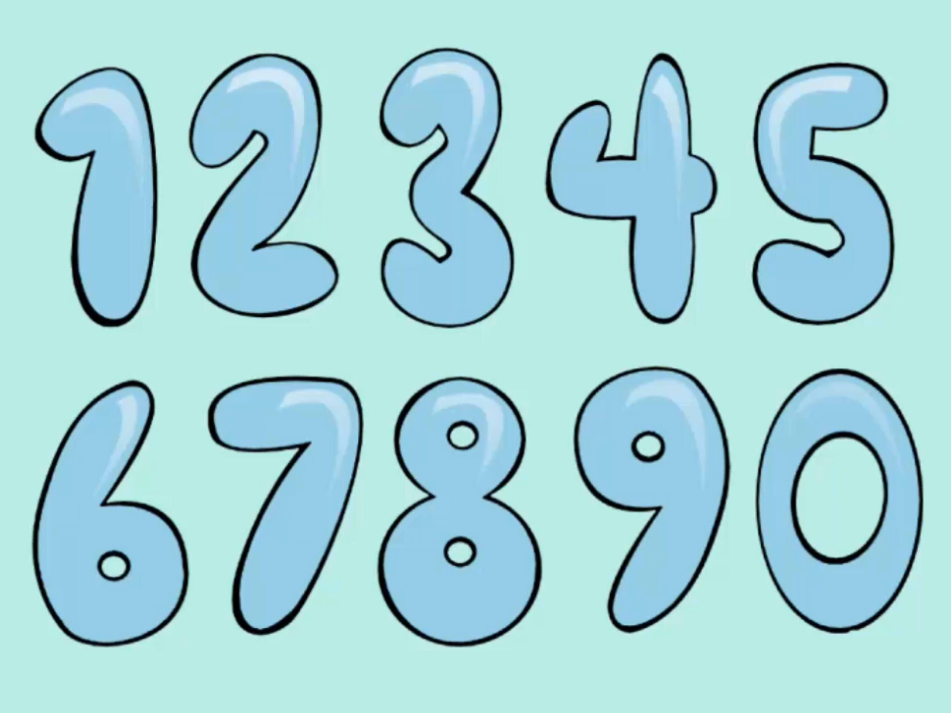 3200x2400 How To Draw Bubble Numbers Stuff Number And Free