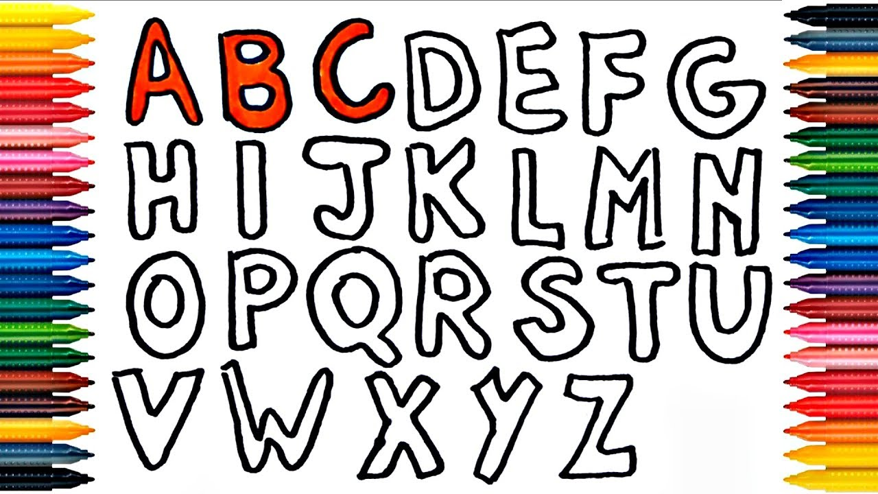 1280x720 Alphabet Abc Drawing Alphabet How To Draw And Paint Alphabet