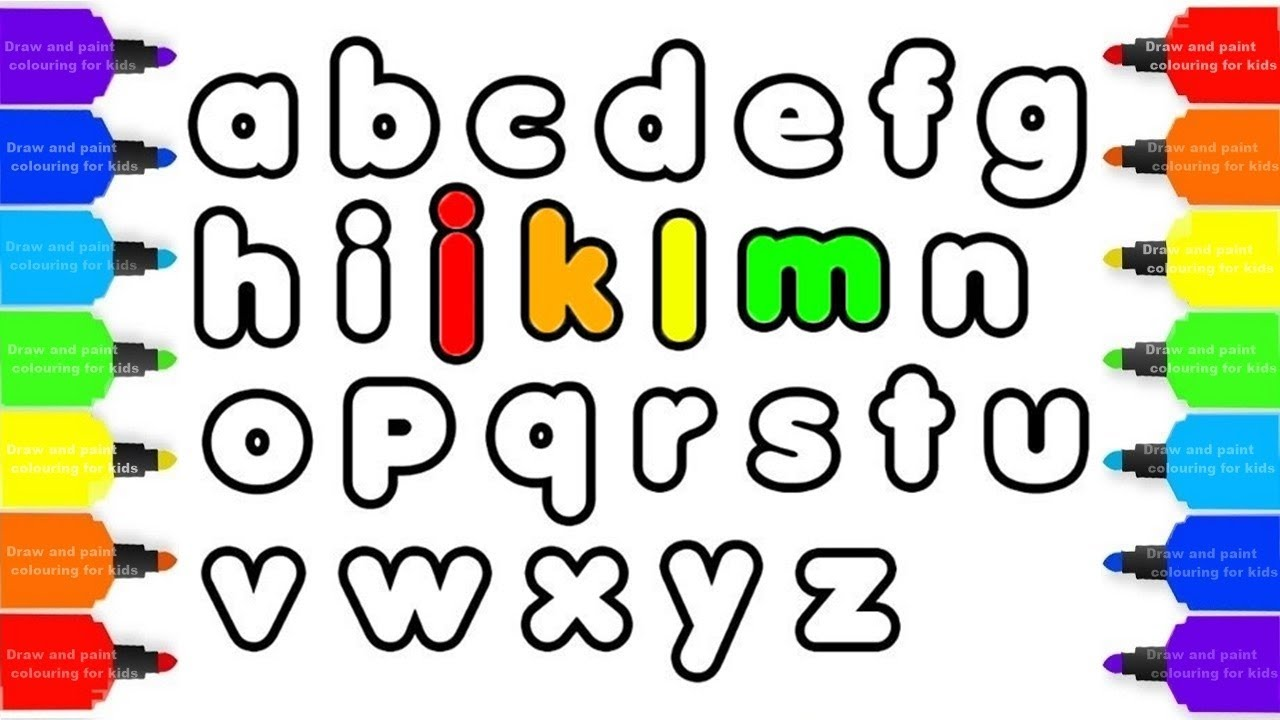 1280x720 How To Draw Abc Alphabet Coloring Pages For Kids! Abc Learning