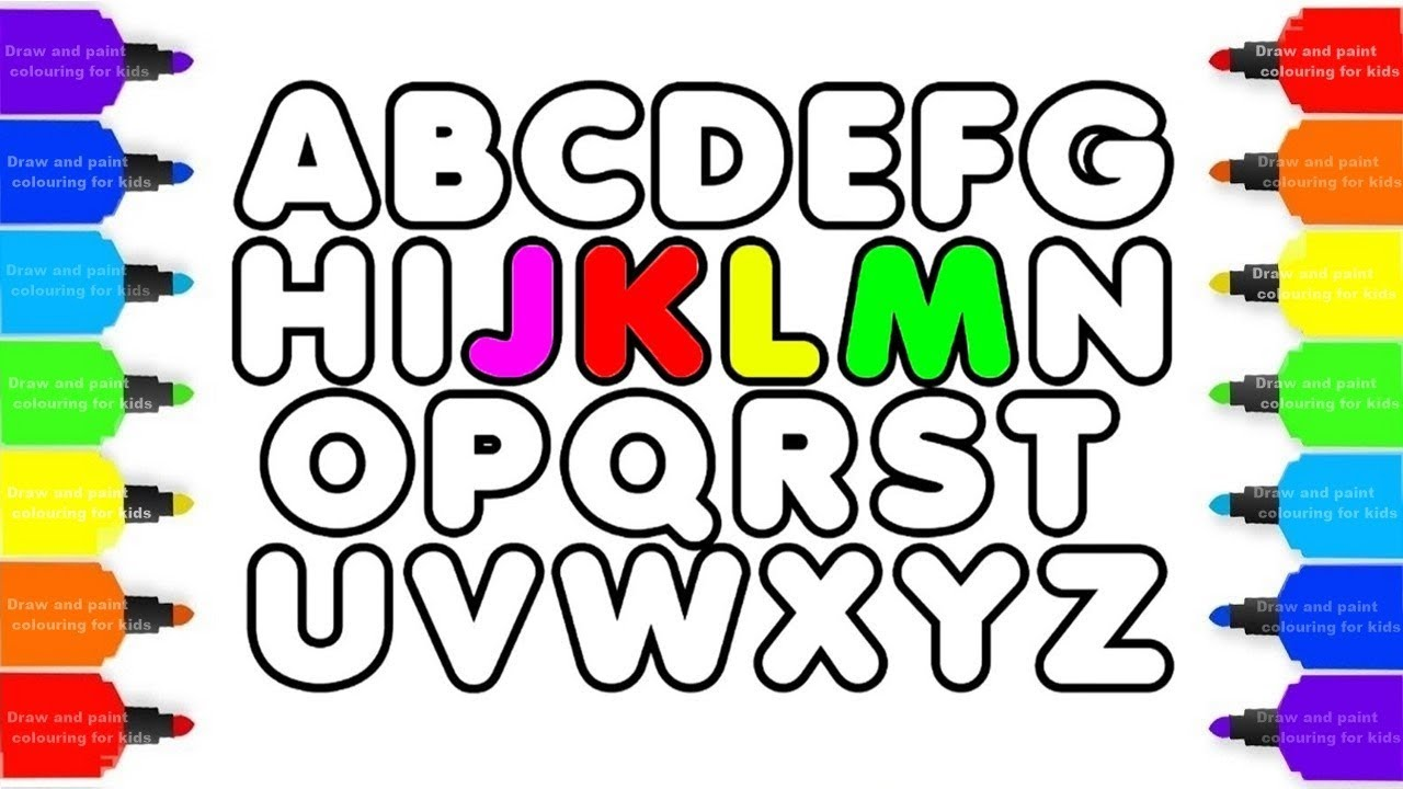 1280x720 How To Draw Alphabet Abc Coloring Pages Kids Alphabet A To Z