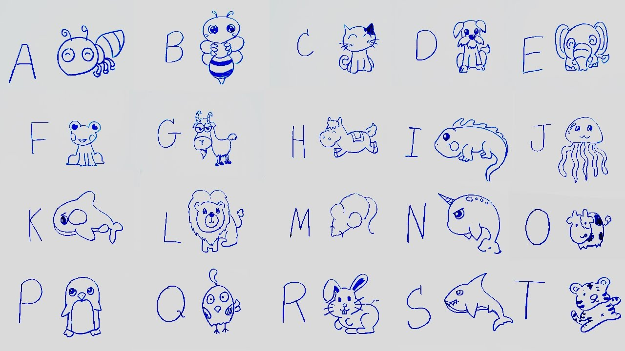 1280x720 Learn Alphabet With Cartoon Drawing Abc Song L Learning Abc