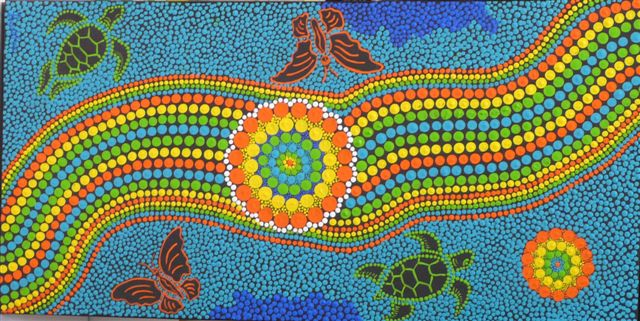 Aboriginal drawing at getdrawings free for personal use 640x321 the historical and innovative aboriginal dot art in australia solutioingenieria Choice Image