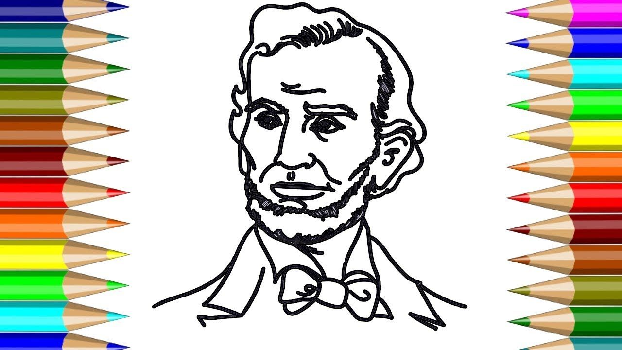 1280x720 President Abraham Lincoln Coloring Book How To Draw President