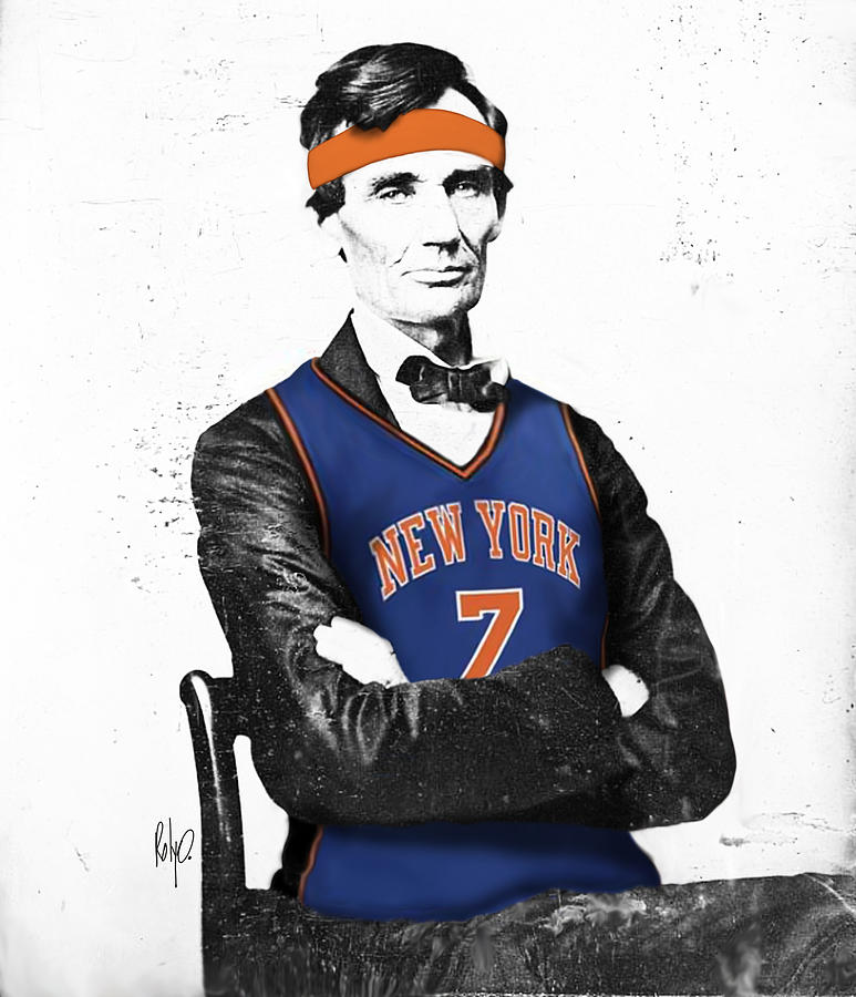 773x900 Abe Lincoln In A Carmelo Anthony New York Knicks Jersey Digital