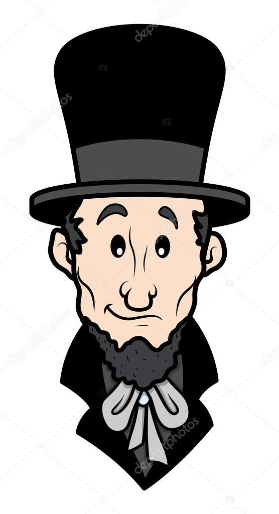 556x1024 Abraham Lincoln Cartoon Vector Character Stock Vector Baavli
