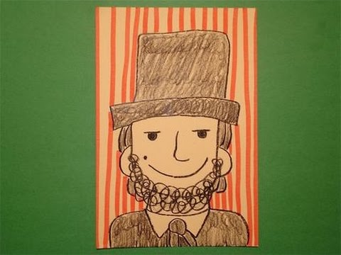 Abraham Lincoln Coloring Pages For Kindergarten : Abraham lincoln with hat drawing at getdrawings free for