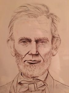 225x300 Michael Jackson's Drawing Of Abraham Lincoln Ebay