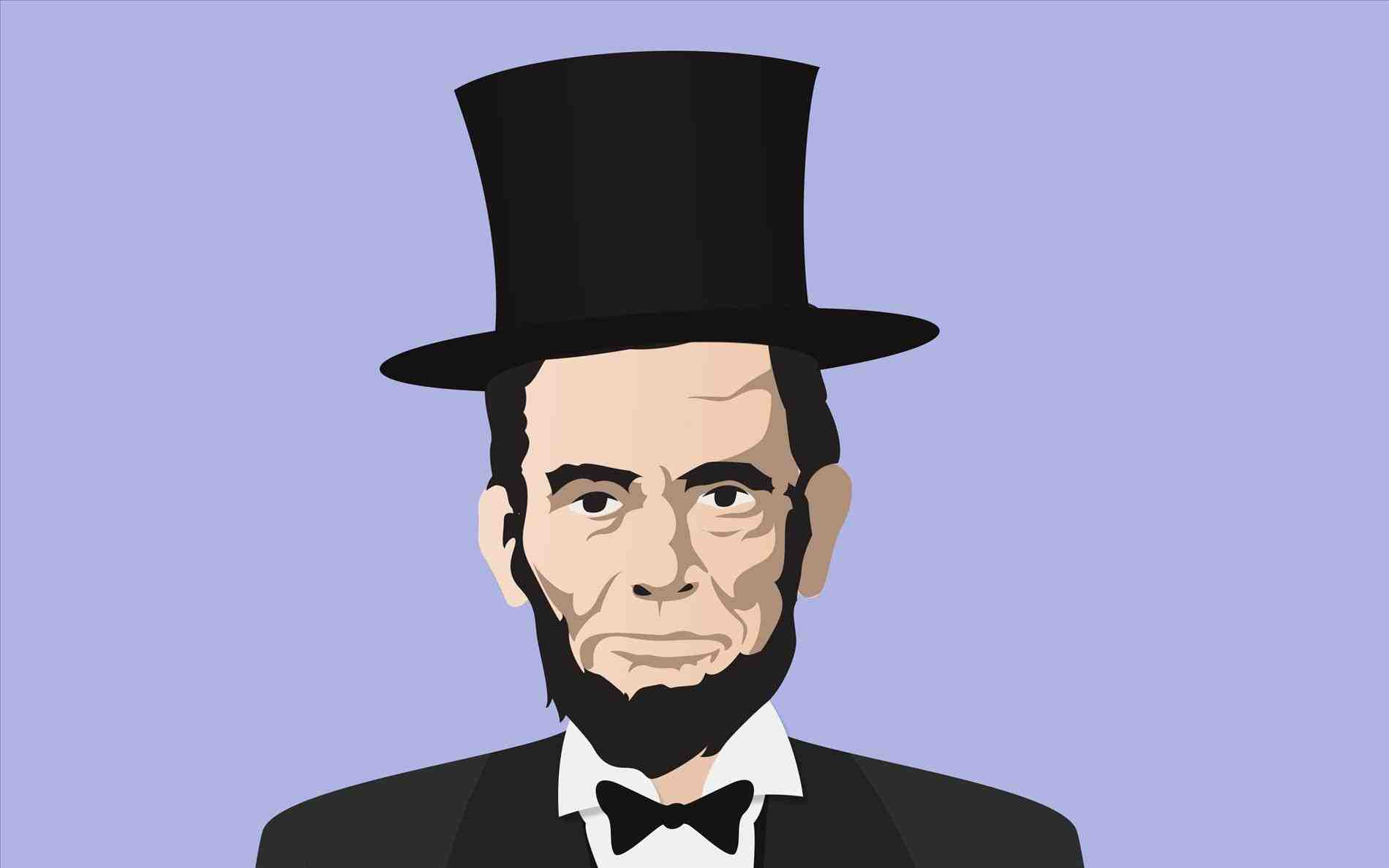 1899x1187 Free Abraham Lincoln With Hat Drawing Stock Illustration Us