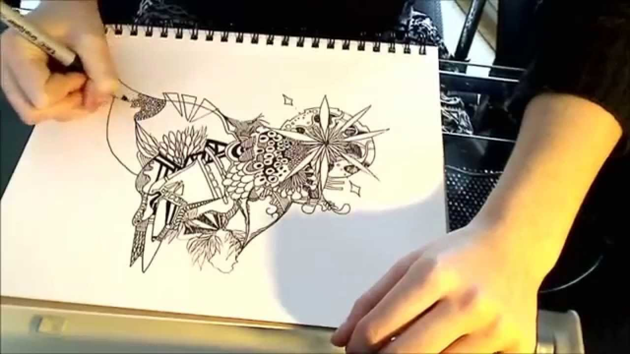 1280x720 Abstract Art Speed Drawing