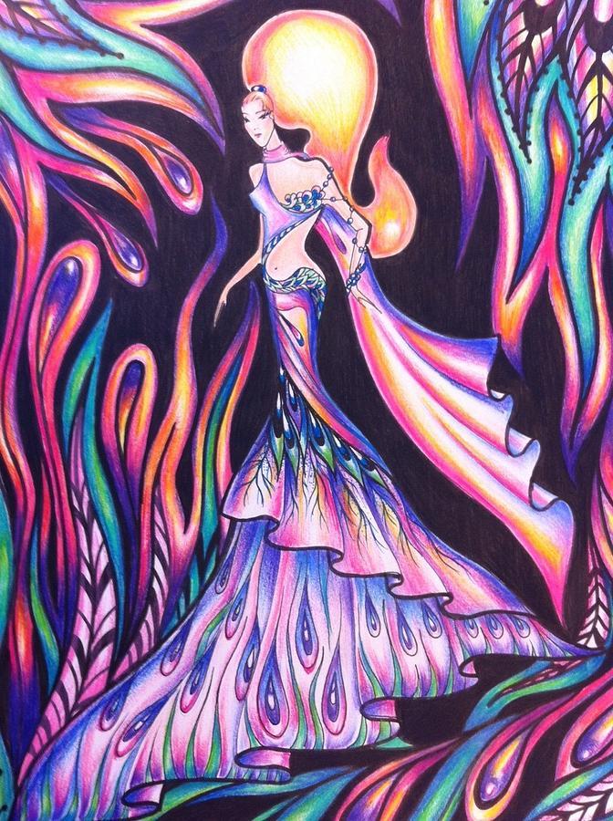 672x900 Abstract Drawings Drawing By Natasha Russu
