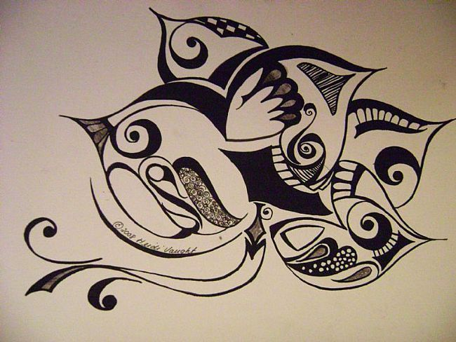 650x488 art abstract bird drawing by artist heidi vaught art tattoos