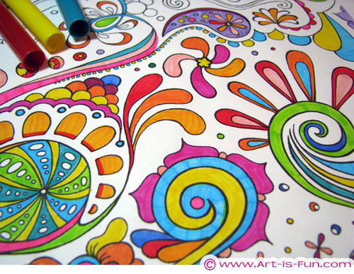 500x388 Abstract Coloring Pages Art Is Fun