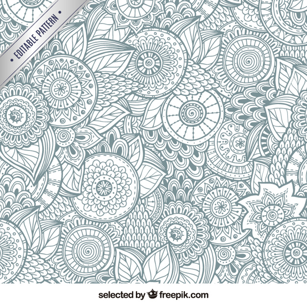 626x626 Abstract Floral Background Vector Free Download