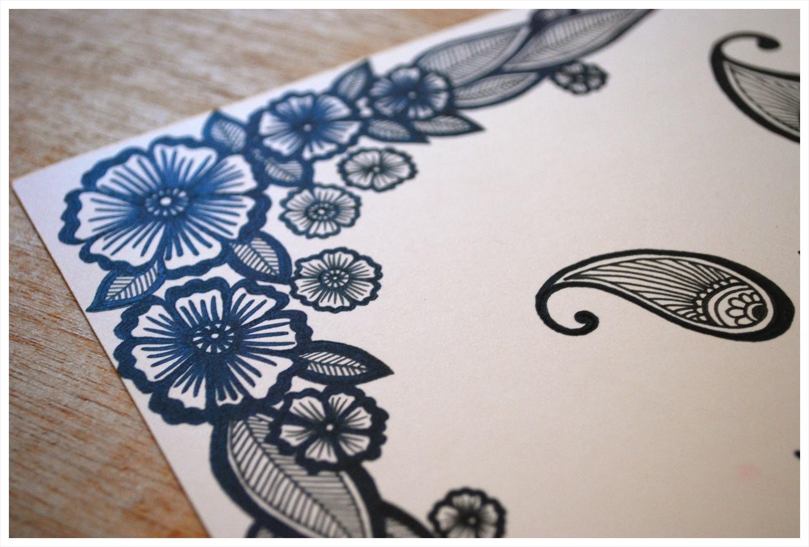 1636x1107 Katharine Watson Wedding Sketches Featuring Wonderful Blue