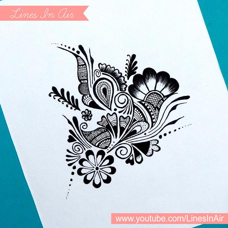 800x800 Random Abstract Henna Mehndi Design By