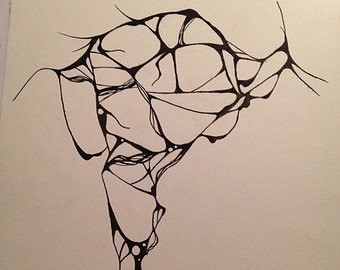 340x270 Abstract Drawing Etsy