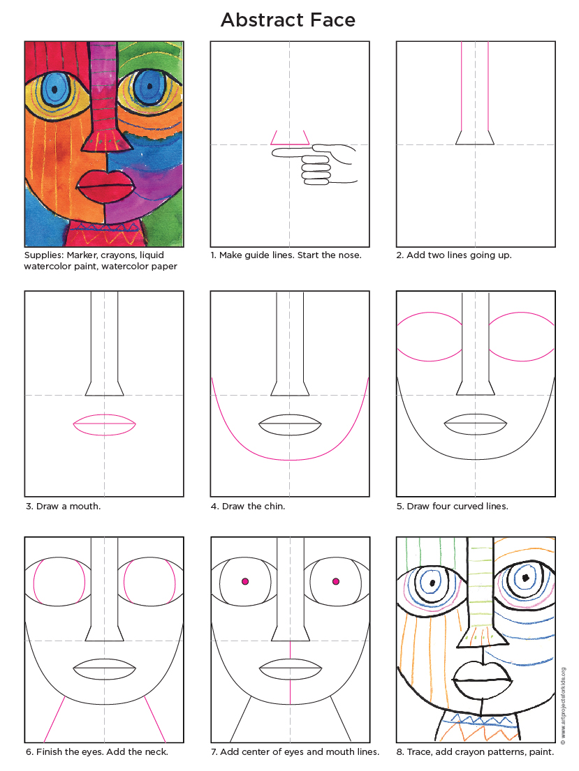 829x1105 Abstract Face Tutorial