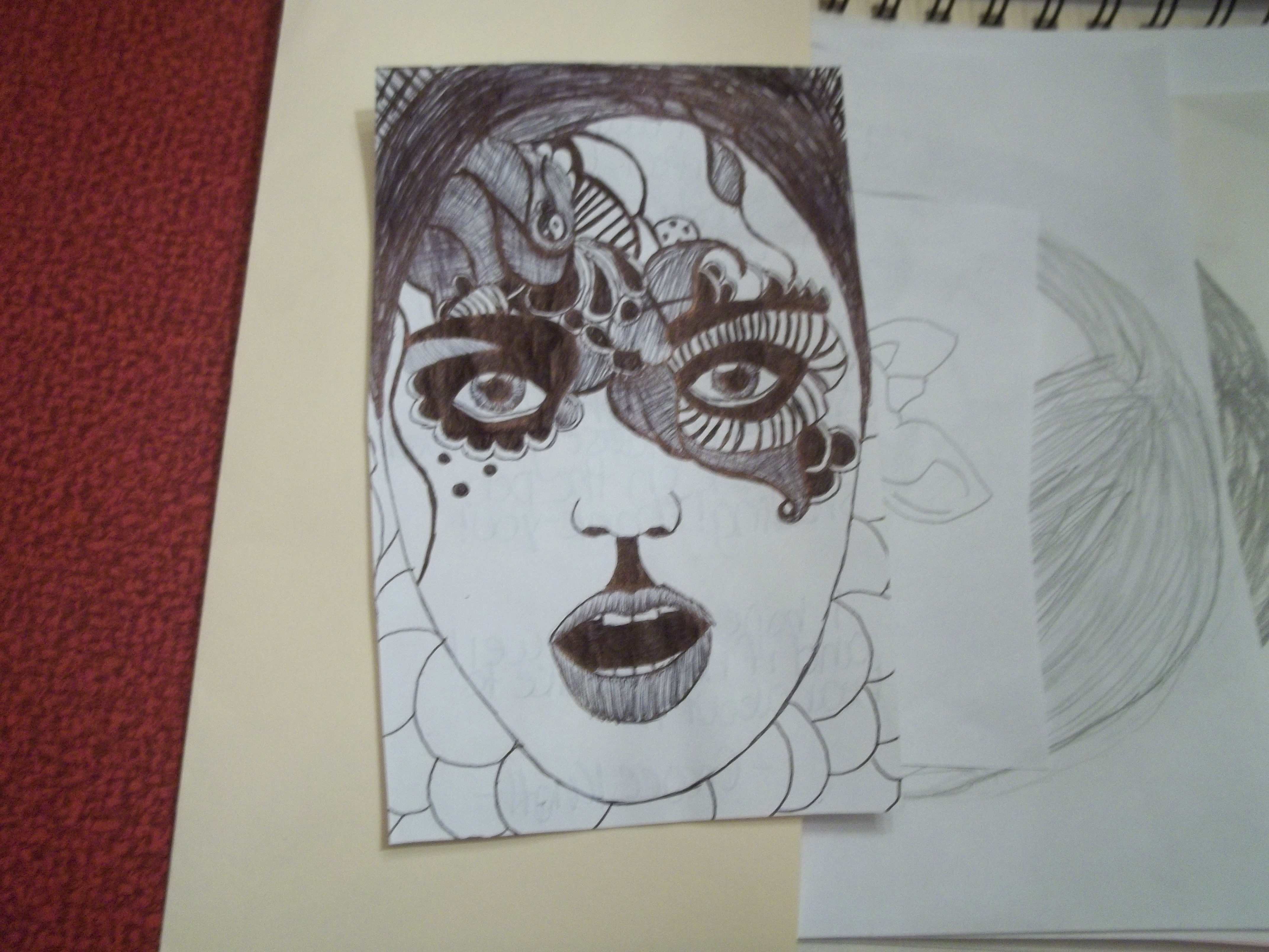 4288x3216 Drawing Abstract Faces Abstract Face Drawing