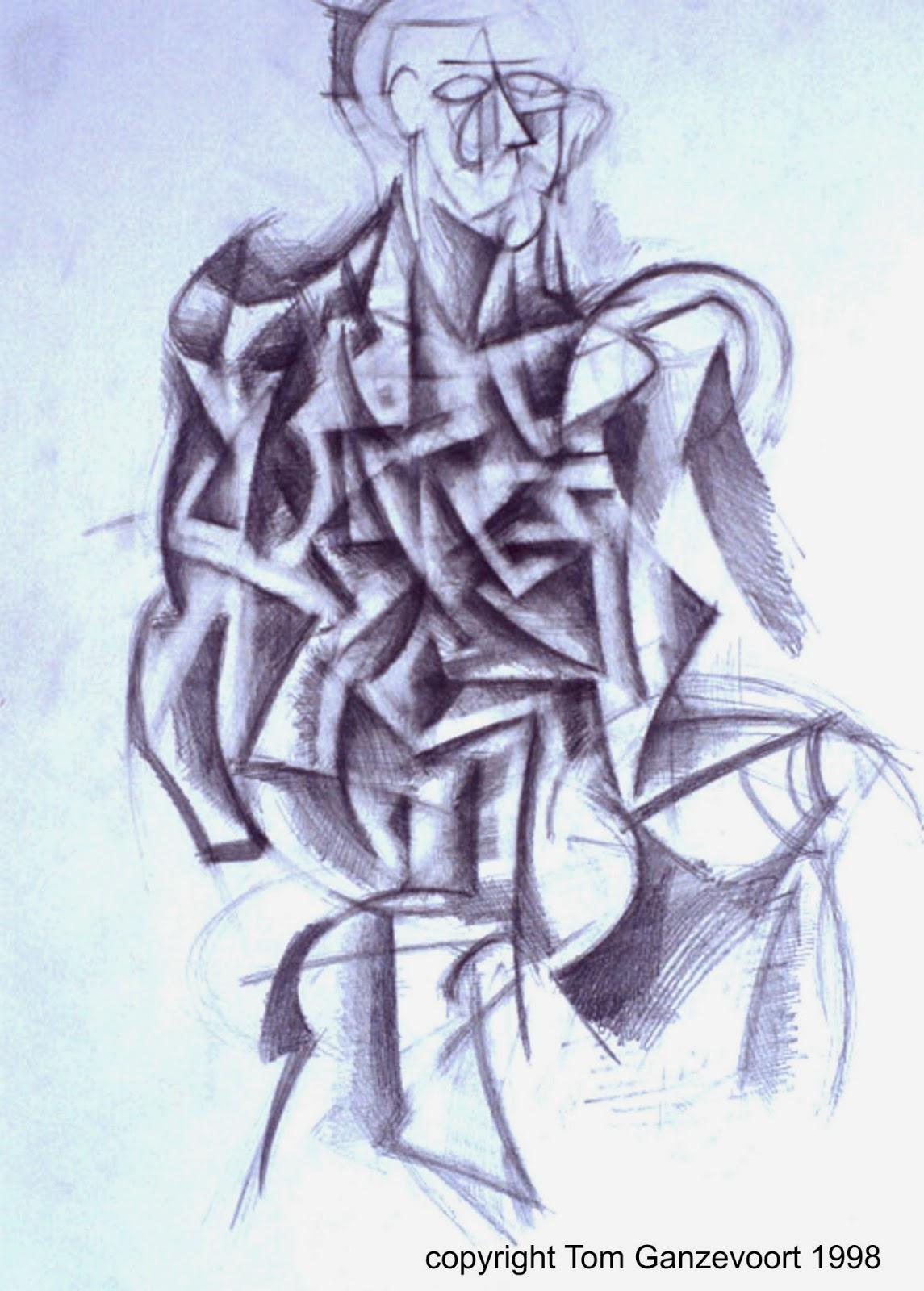 1145x1600 Cubist Drawings Ineedartandcoffee