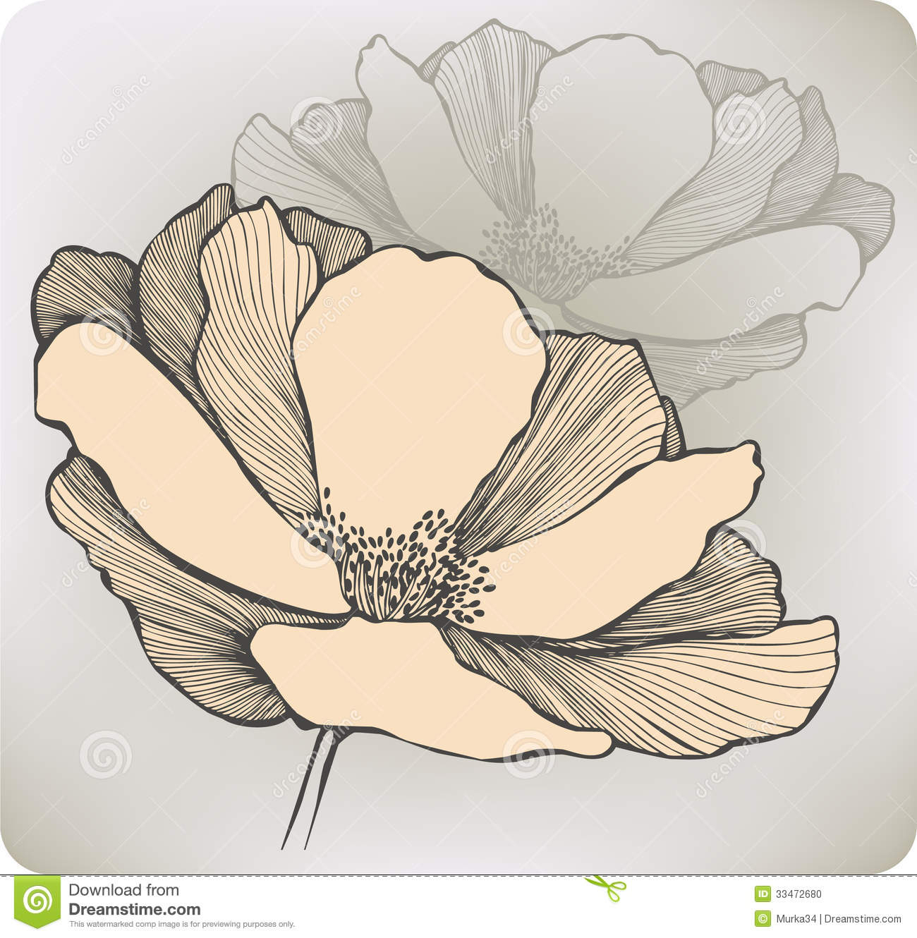 1300x1330 Abstract Flower Drawings Abstract Flower, Hand Drawing. Vector