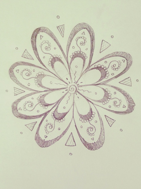 478x640 How To Draw An Intricate Abstract Flower