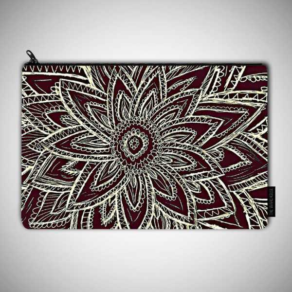 600x600 Abstract Flower Drawing Art Printed Pouch Bag Rs.599 Price Online