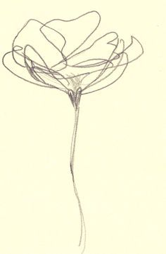 236x362 Abstract Flower Line Drawing