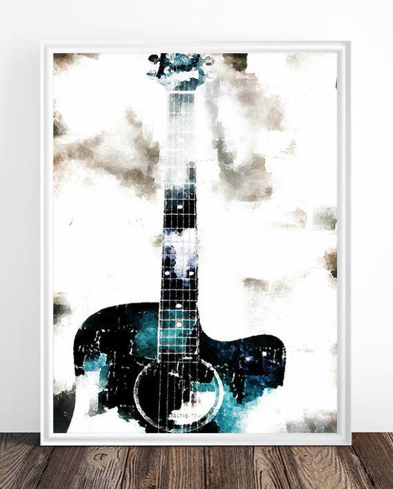 570x710 Guitar Artwork, Guitar Print, Guitar Present, Guitar Gift, Guitar