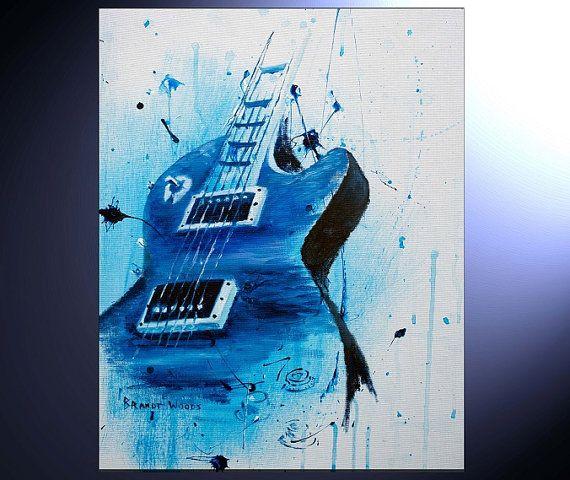570x480 Unique Guitar Paint Guitar Guitar Painting