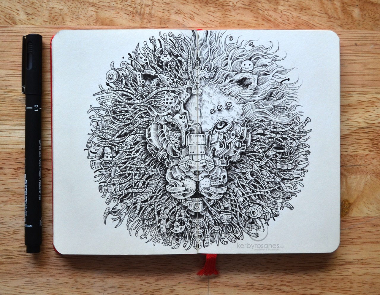 1280x995 Most People Doodle When They'Re Bored, But What This Artist Does