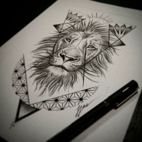 500x500 Lion Tattoo Australia Abstract Tattoos Abstract Lion Drawings